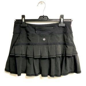 LULULEMON Run Pace Setter Skirt   Black 4